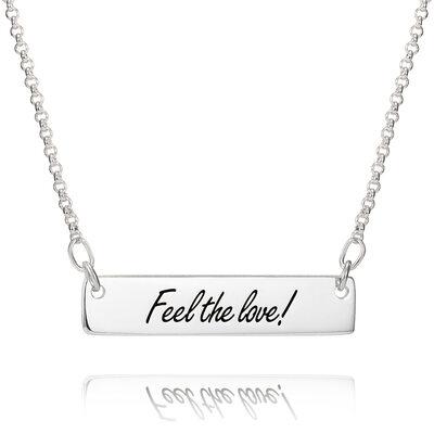 Personalisiert Sterling Silber Schwarz Und Weiß Foto-Halskette - Geburtstagsgeschenke