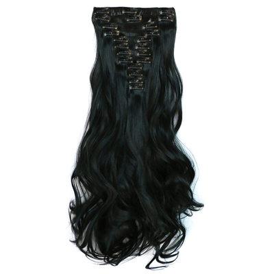 рыхлый Синтетические волосы Волосы для наращивания с зажимами 12PCS 150г