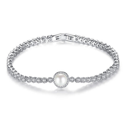 Christmas Gifts For Her - Cubic Zirconia Alloy Delicate Chain Bridal Bracelets Bridesmaid Bracelets