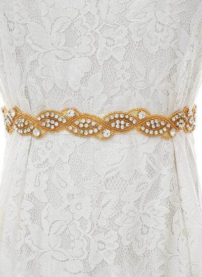 Con estilo Satén Fajas con Diamantes de imitación