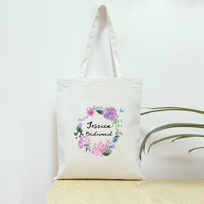 Bridesmaid Gifts - Personalized Cotton Tote Bag
