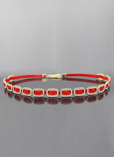 Fashional Leatherette Belt With Rhinestones