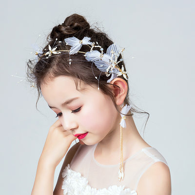 Taslar Ile Çiçek Headbands/Küpeler (2 Set)