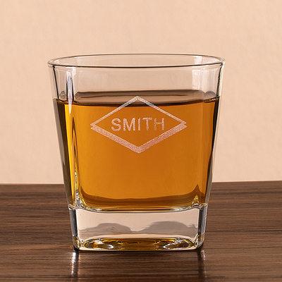 花婿の付添人のギフト - 個別の エレガント ガラス ウイスキーグラス