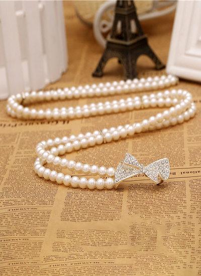 Elegant Imitation Pearls Sash