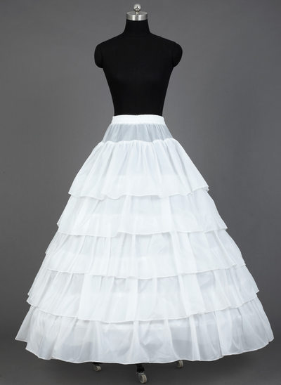 Women Satin Floor-length 5 Tiers Petticoats