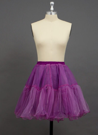 Women/Girls Organza/Polyester Short-length 2 Tiers Petticoats