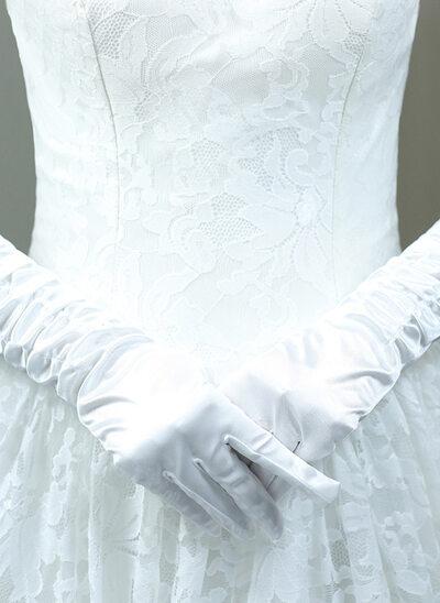 Katoen Elbow Lengte Bruids Handschoenen met Geborduurd