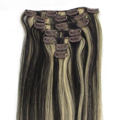 4A Non remy Прямо Человеческая прическа Волосы для наращивания с зажимами 7PCS 100г