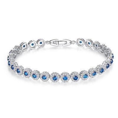 Weihnachtsgeschenke Für Sie - Zirkonia Legierung Tennis Brautarmbänder Brautjungfer Armbänder