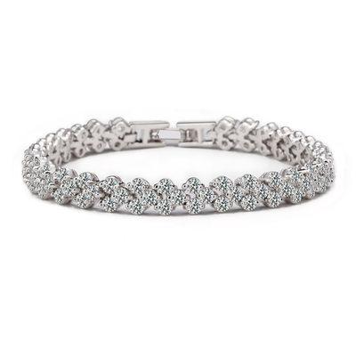 Weihnachtsgeschenke Für Sie - Zirkonia Platin Tennis Brautarmbänder Brautjungfer Armbänder