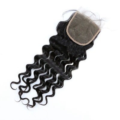 "4""*4"" 5A Virgin/remy Deep Human Hair Closure (Sold in a single piece) 100g"