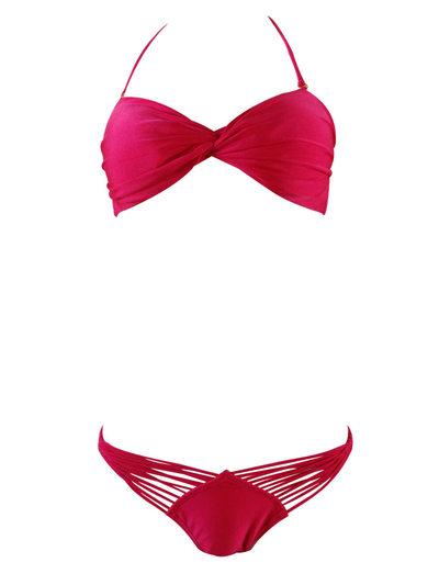 Mode Effen kleur Bikini