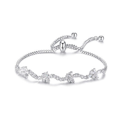 Christmas Gifts For Her - Cubic Zirconia Alloy Delicate Chain Bridal Bracelets Bridesmaid Bracelets Bolo Bracelets