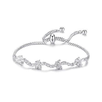 Weihnachtsgeschenke Für Sie - Zirkonia Legierung Empfindliche Kette Brautarmbänder Brautjungfer Armbänder Bolo-Armbänder
