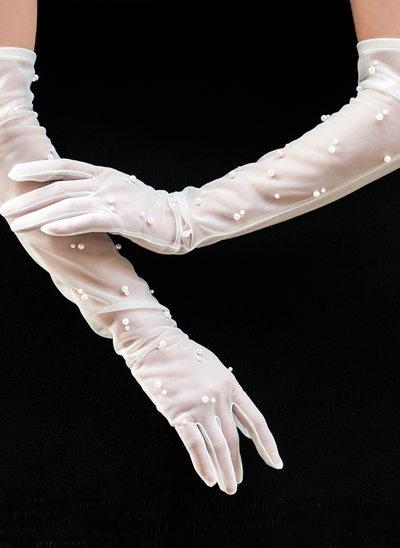 Тюль Опера длина Свадебные перчатки