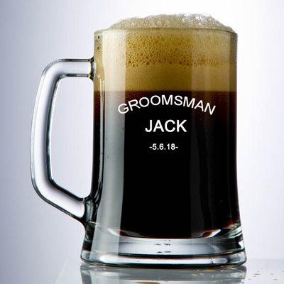 Prezenty Groomsmen - Spersonalizowane Klasyczny Szkło Kufel do piwa