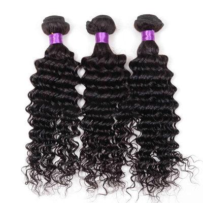 5A Virgin / remy Hluboký Lidský vlas Lidské vlasy tkát (Prodáno v jediném kusu) 100g