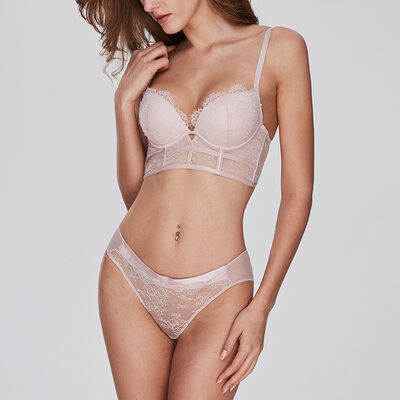 Romantico Chinlon Nylon Demi Set Di Reggiseni