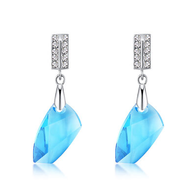 Ladies' Beautiful Alloy/Platinum Plated Rhinestone/Austrian Crystal Earrings For Mother