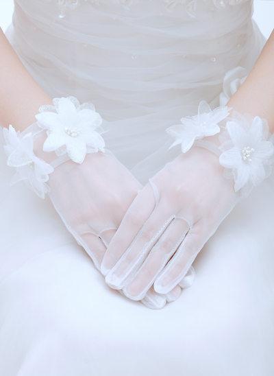 Voile Wrist Length Bridal Gloves
