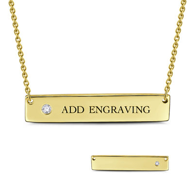 Custom 18k Gold Plated Silver Name Necklace Engraved Necklace