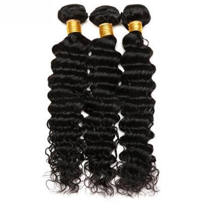4A Ne remy Hluboký Lidský vlas Lidské vlasy tkát (Prodáno v jediném kusu) 100g