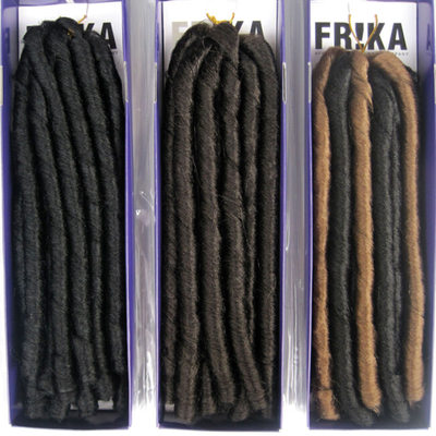 Dread Locks / Faux Locs Syntetisk hår fletter 7strands per pakke 80g