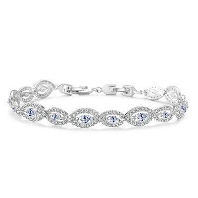 Ladies' Romantic Copper/Cubic Zirconia Cubic Zirconia Bracelets For Bride