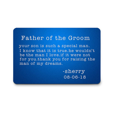 Groom Gifts - Personalized Classic Aluminum Wallet Insert Card
