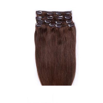 4A Non remy Прямо Человеческая прическа Волосы для наращивания с зажимами 7PCS 70g