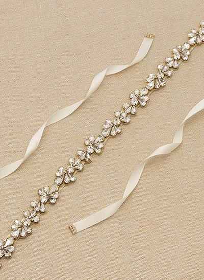 Elegante/Maravilloso Satén Fajas con Diamantes de imitación