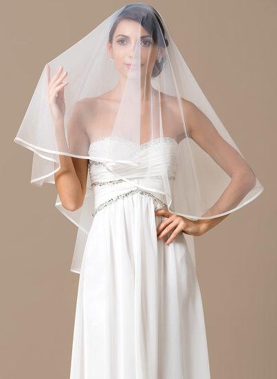 Uno strato Velare da sposa valzer con Con nastrino