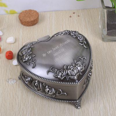 Cadeaux De Demoiselle D'honneur - Personnalisé Style Classique Élégant Alliage Boîte à bijoux