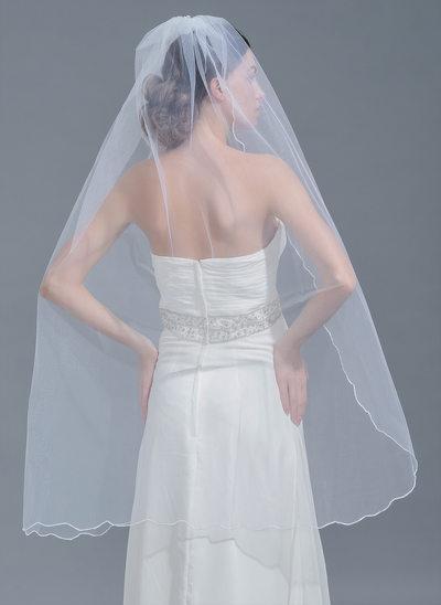 One-tier Scalloped Edge Waltz Bridal Veils