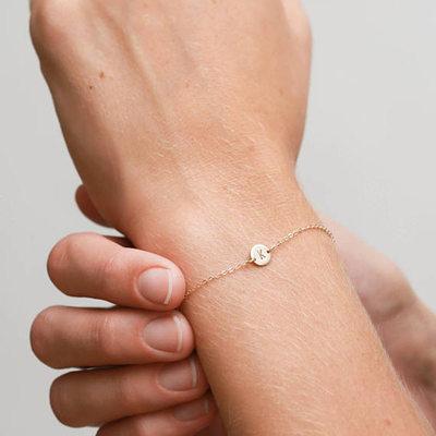Brudepike Gaver - Personlig Ensfarget Legering Armbånd