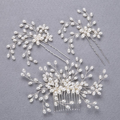 Charming Alloy/Imitation Pearls Hairpins/Combs & Barrettes (Sold in single piece)