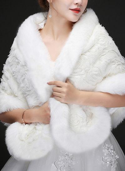 Lã artificial Casamento Estolas