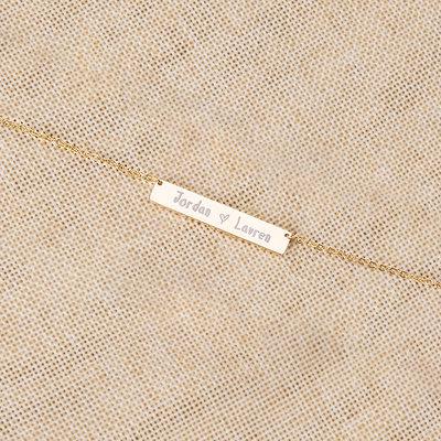 Cadeaux De Mariée - Personnalisé Élégant Alliage Collier