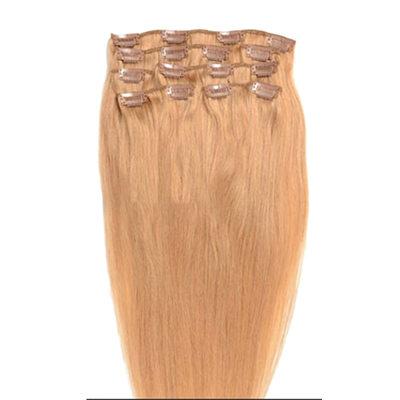 5A Virgin / remy Прямо Человеческая прическа Волосы для наращивания с зажимами 7PCS 70g