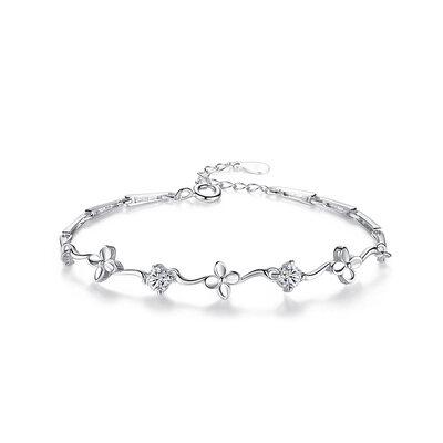 Sonar Naisten Kaunis 925 sterlinghopea hopea jossa Diamond Kuutiometriä zirkonia Rannerenkaita Hänen/Morsiusneito