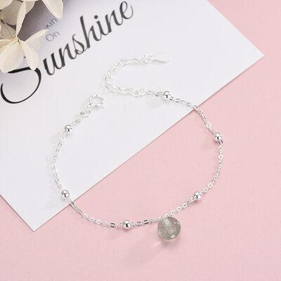 Antioxidante Cadena delicada Bracelets De Charme con Cristal -