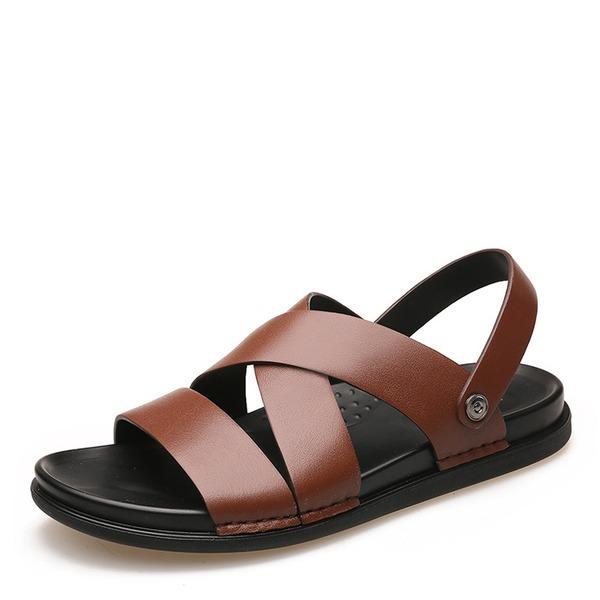 Мужская натуральня кожа вскользь Men's Sandals