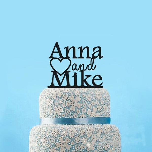 Personalizado Casal clássico Acrílico Decorações de bolos