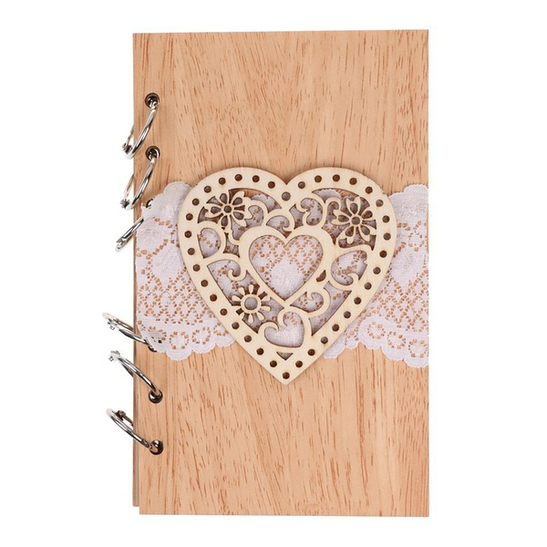 Wooden wedding cutout love notebook(Sold in a single piece)