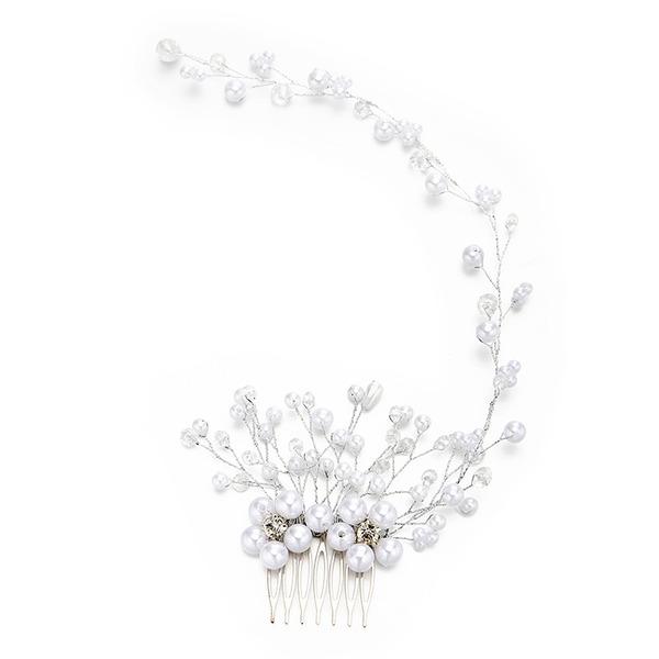 Dames Persoonlijke Kristal/Imitatie Parel Kammen & Haarspeldjes met Venetiaanse Parel/Kristal (Verkocht in één stuk)