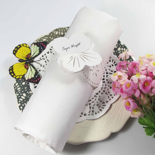 Butterfly Design Napkin Rings (Set of 12)