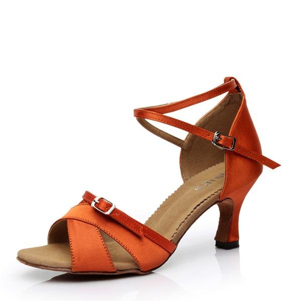 Donna Raso Tacchi Sandalo Latino con Fibbia Cava-out Scarpe da ballo