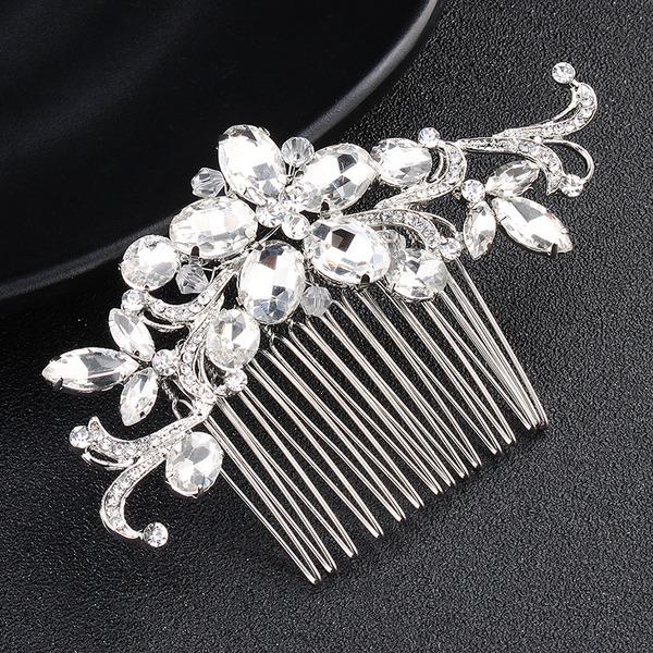 Damen Glamourös Legierung Kämme und Haarspangen mit Kristall