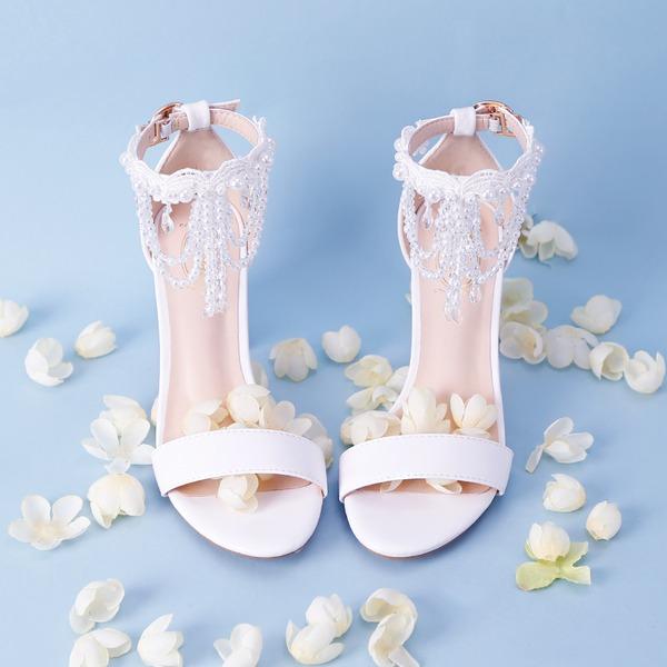 Women's Leatherette Stiletto Heel Peep Toe With Tassel